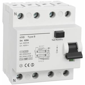 Billede af Type B | RCD | fejlstrømsafbryder 63A | 300mA | AC/DC