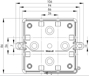 Billede af Kvadratisk membrandåse | samledåse IP55